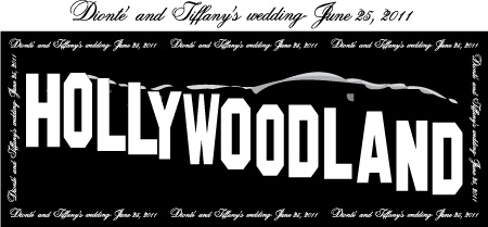 Hollywood Land Themed Wedding Backdrop